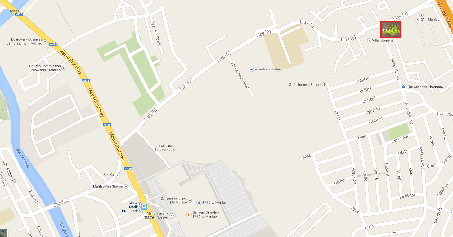 Rise Of The Champions Bulacan Cyberloop Computer Shop - Marilao map