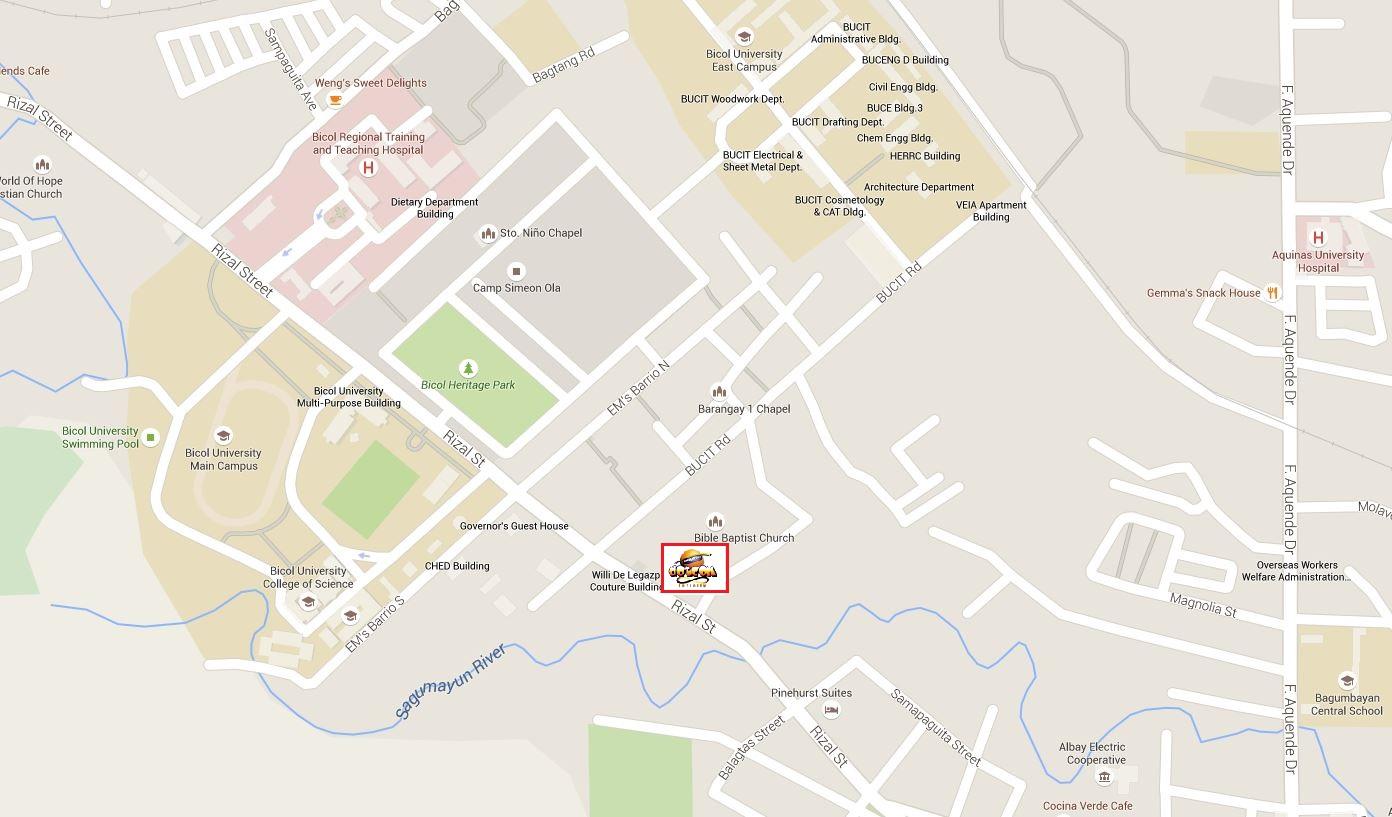 Teemo Cup Albay Dotcom Infinity ICafe EMs Barrio Branch - Legazpi city map