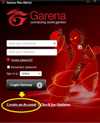 www garena com and install 2 launch garena plus on your computer