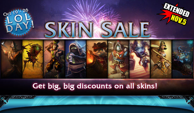 LoL Day - Skin Sale