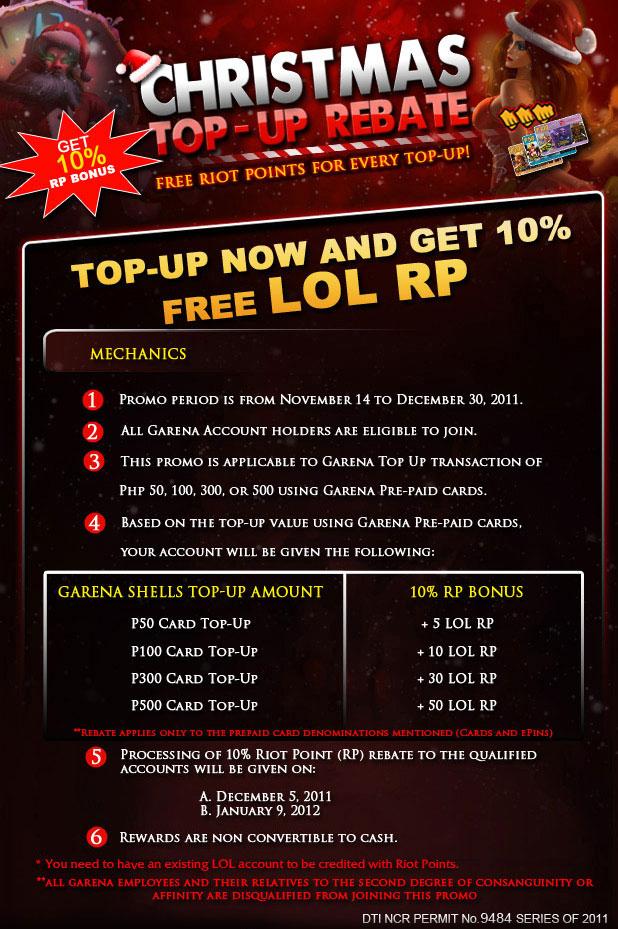 Christmas Top-up Rebate