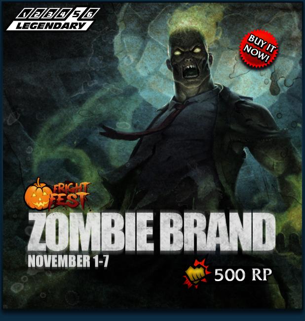 how to get zombie brand skin