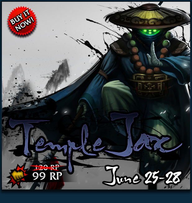Temple Jax Skin Sale