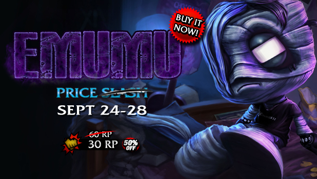 september 24 2013 the skin will be on 50 % sale until september