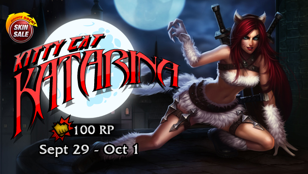 Kitty Cat Katarina will be in the store with the price of 100RP from