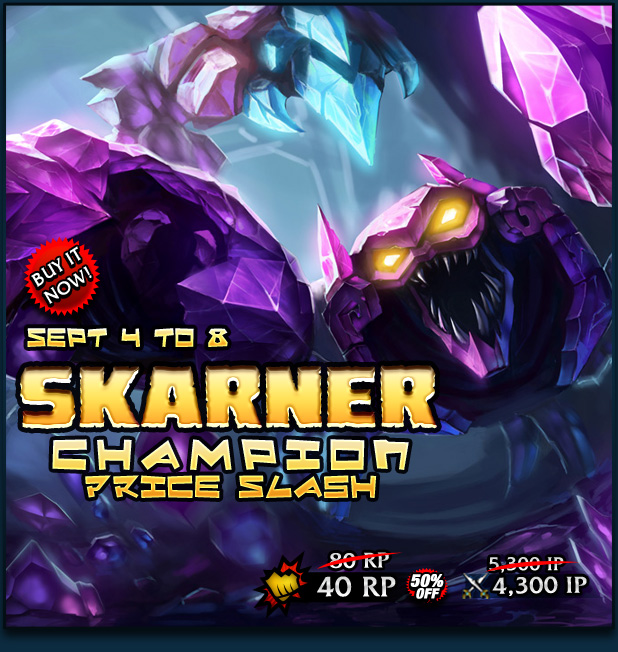 2013 the champ s rp price will be on 50 % sale until september 8 2013