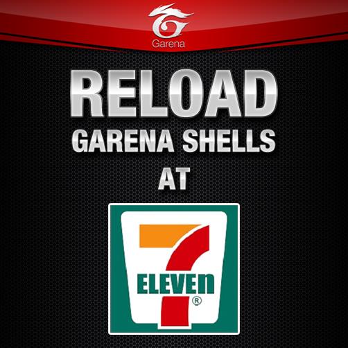 Reload Garena Shells at 7-11!