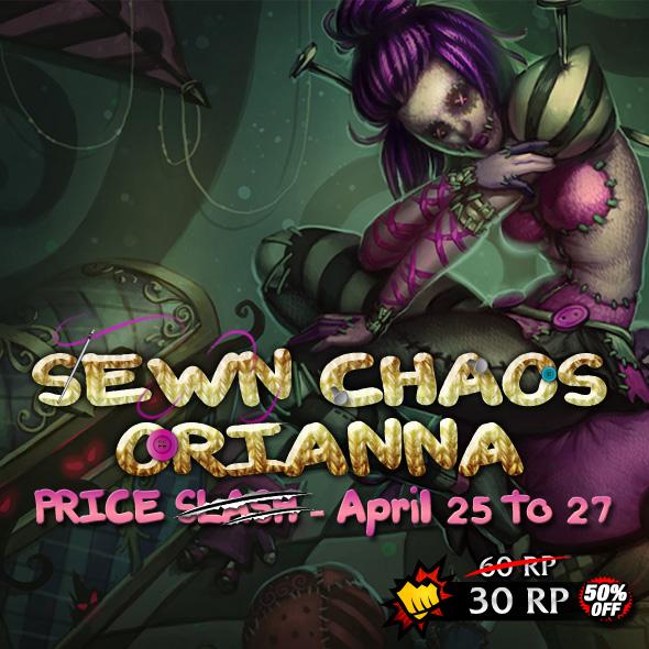 Sewn Chaos Orianna Skin Price Slash
