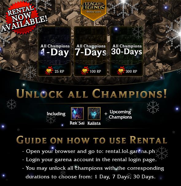 Champion trading system lol