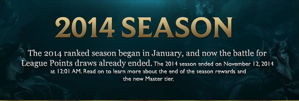 The 2014 ranked season has ended!
