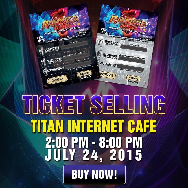 Ticket Selling - Titan Internet Cafe