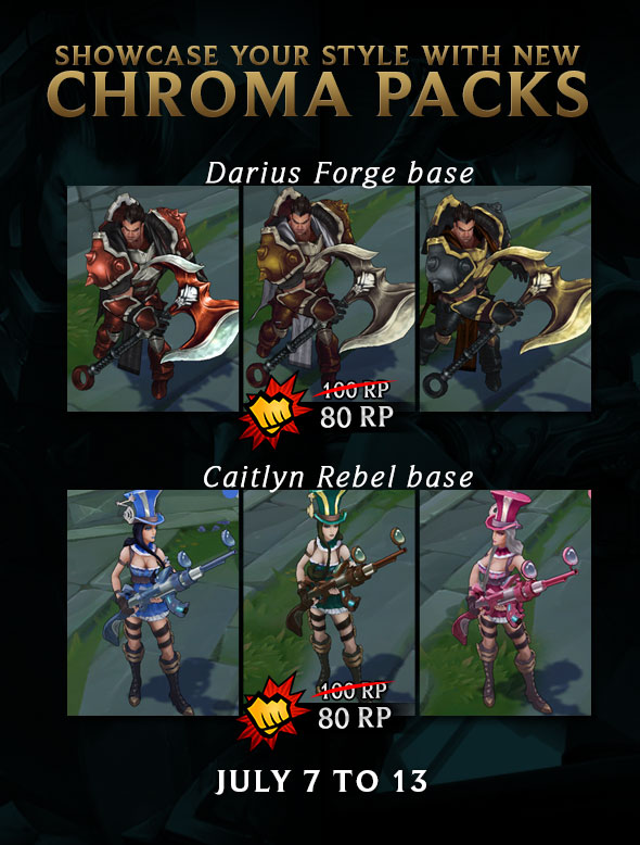 Darius And Caitlyn Chroma Packs