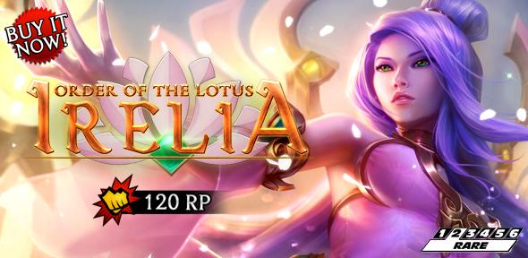 Order Of The Lotus Irelia Skin Release